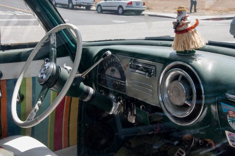 Vintage car, Morro Bay, California