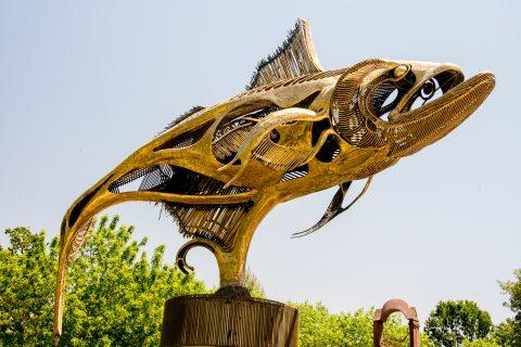 'Grand Tarpon' by J Jagger, Sculpterra Sculpture Garden, Paso. R