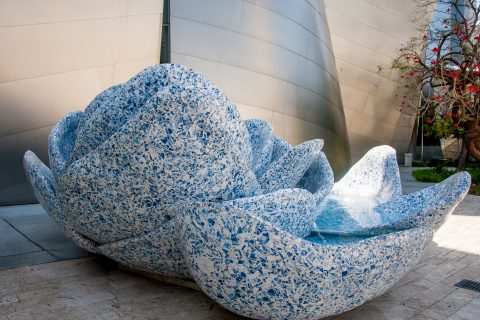 Roof garden, Walt Disney Concert Hall by F Gehry, Los Angeles, C