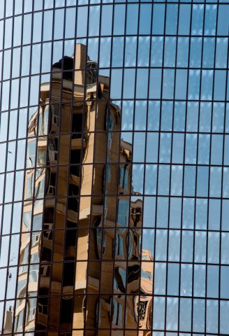 Reflections downtown Los Angeles, CA