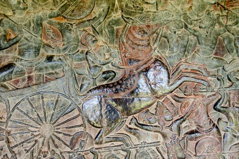 Bas relief of Mahabharata, Angkor Wat