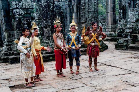 Dance troupe, Baphuon temple, Angkor Wat
