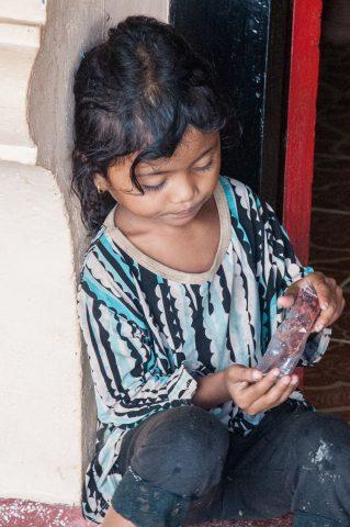 Girl at Temple near Siem Reap