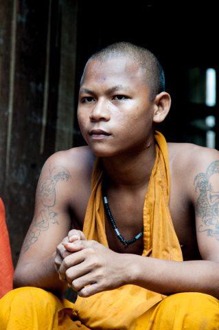 Monk at Temple near Siem Reap
