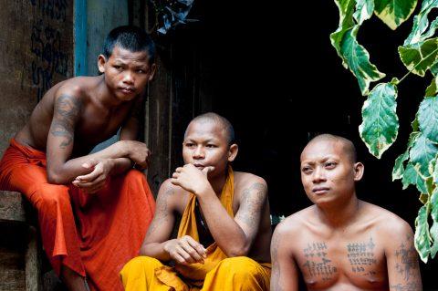 Monks at Temple near Siem Reap