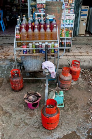 Petrol for sale, Battambang