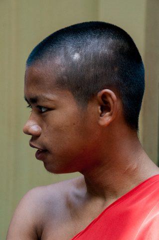 Monk at temple, Battambang
