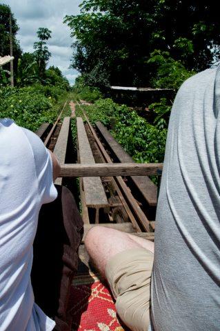Riding the Bamboo train, Battambang