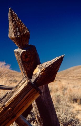 Posts in cemetery, Bodie Ghost Town, Cal (1999)
