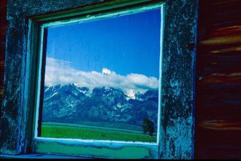 Grand Tetons reflection, Mormon Row, Wyoming (2000)