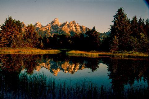Grand Tetons from Schwabacher Landing, Wyoming (2000)