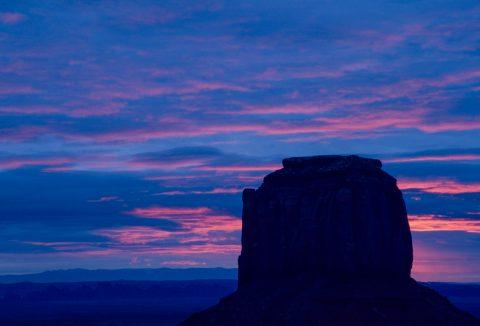 Merrick Butte at sunrise, Monument Valley, Utah (2004)