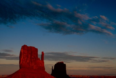 The Mittens at sunset, Monument Valley, Utah (2004)