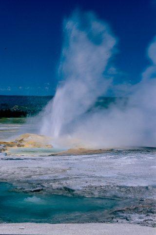 Clepysdra Geyser, Lower Geyser Basin, Yellowstone WY (2000)
