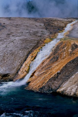 Overflow from Excelsior Geyser, Midway Basin, Yellowstone WY (20