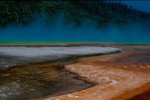 Grand Prismatic Pool, Midway Geyser Basin, Yellowstone WY (2000)