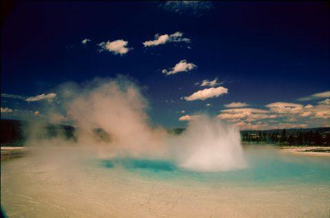 Sunset Lake, Black Sand Geyser Basin, Yellowstone WY (2000)