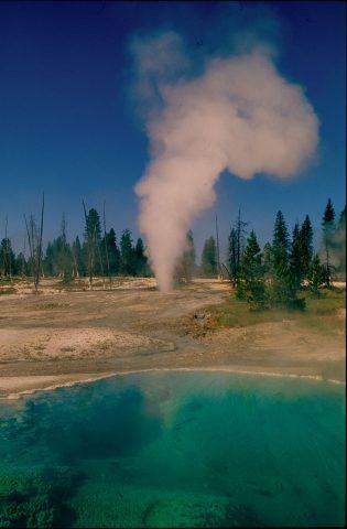 Black Pool & Twin Geyser, West Thumb,  Yellowstone WY (2000)
