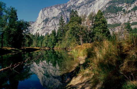 Merced River by Cook's Meadow, Yosemite (1999)